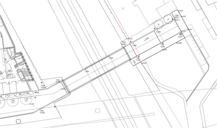 Plan of underpass