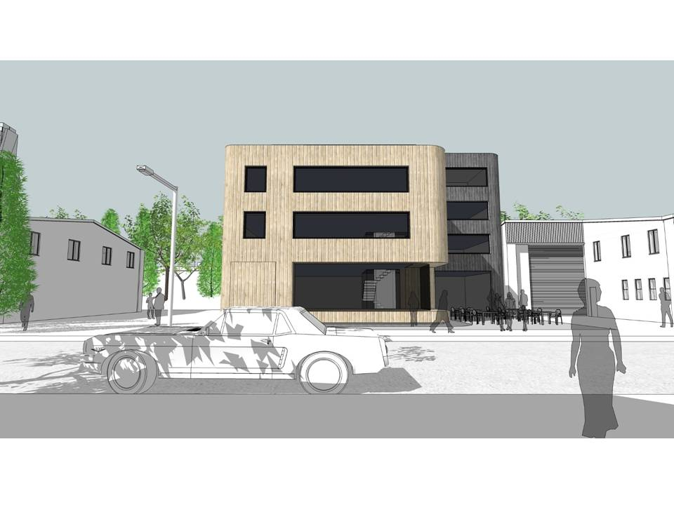 Image of how a a typical unit at 1-14 Latimer Road could b redeveloped with housing above commercial space
